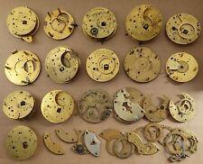 Reloj de bolsillo Lote de trabajo de las piezas en su mayoría Borde, todos como se muestra, Steampunk.
