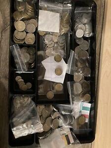 50 Circulated Old European Coins Collection lot (no duplicates)