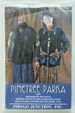 indygo junction Sewing Pattern Pinetree Parka Jacket IJ451 Recycling Jeans S-XL