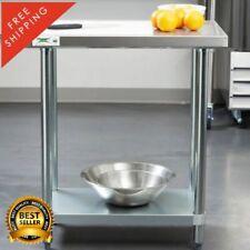 """18"""" x 30"""" Stainless Steel Work Prep Shelf Table Commercial Restaurant 18 Gauge"""