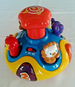 VTECH SPIN 'N LEARN TOP LEARNING TEACHING TOY ANIMALS and & NUMBERS CAROUSEL