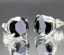 4.02tcw Real Natural Black Diamond Stud Earrings, AAA Grade & $2210 Value.......