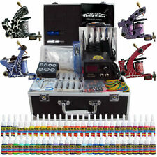 Solong Tattoo Complete Tattoo Kit 4 Machine Gun 54 Ink Power Set Case TK456