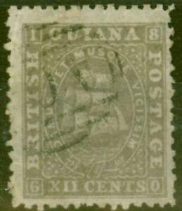British Guiana 1867 12c Grey-Lilac SG75 Good Used Ex-Fred Small