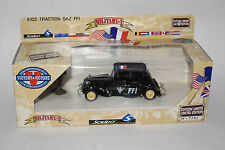 SOLIDO MILITARY #6102 CITROEN TRACTION FRANCE FRENCH GAZ FFI, 1:50, NEW IN BOX