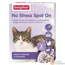 Pets BEAPHAR NO STRESS SPOT ON 3 PIPETTE ANTISTRESS PER GATTO TRASPORTO VIAGGIO
