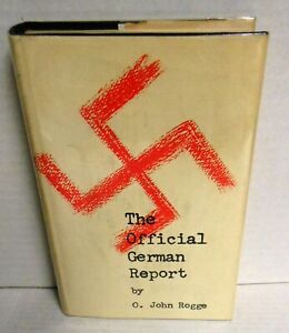 Official German Report by O Rogge signed/J M Hayes Hitchcock Writer op 1961