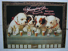 Yuengling Beer Famous Puppy Dogs At Bar Poster / Sign / Banner (New)