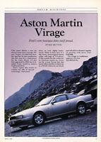 1989 Aston Martin Virage -  Classic Article A87-B