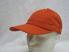 VINTAGE  BURNT ORANGE UNSTRUCTURED HAT CAP DEADSTOCK (#0-15)