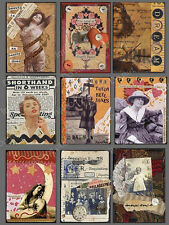 Trade Card Mix Media Collage Sheet ~Cards & Crafting        C102