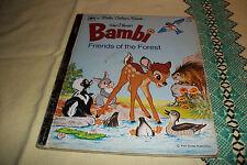 BAMBI FRIENDS OF THE FOREST A  LITTLE GOLDEN BOOK 6TH PRINTING 1978 WALT DISNEY
