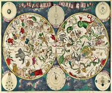 "Planisphaeri Coeleste riproduzione vintage mappa da Frederik de Wit A2 24 ""X 17"""