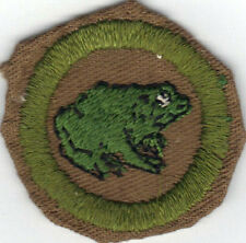 BOY SCOUT ZOOLOGY SAND FINE TWILL MERIT BADGE (TYPE D) 1942-1946