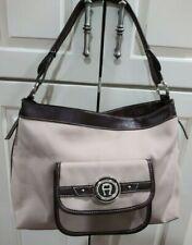 417bb305f Etienne Aigner Tan Nylon Leather Trim Large Women's Shoulder Bag Purse