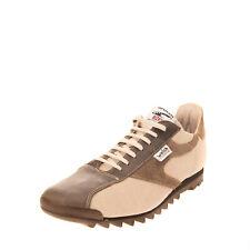 RRP €135 WALSH Low Top Sneakers EU 42 UK 8 US 9 Contrast Leather HANDMADE Logo