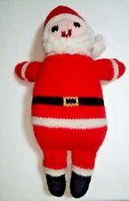 VTG Handmade Crocheted Amigurumi Santa Claus Doll Plush Retro