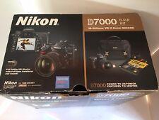 NIKON D7000 16.2 MP DIGITAL SLR BLACK CAMERA W/18-105mm LENS, BAG, 2 BATTERIES