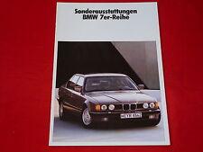 BMW 7er E32 Sonderausstattungen Prospekt von 1988