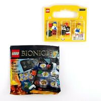 Lego Minifigures 3-Pack Bionicle 9 Piece Set Lot Limited Edition Pie Overalls