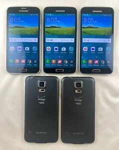 5 Samsung SM-G900V Galaxy S5 Verizon/Unlocked Lot Phone Android LTE GOOD