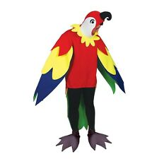 Parrot Fancy Dress Bird Polly Animal Adult Costume Stag Do Unisex Funny Outfit