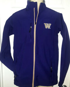 WASHINGTON HUSKIES Mens Coat Size Small or Large Purple Embroidered Logos Nice