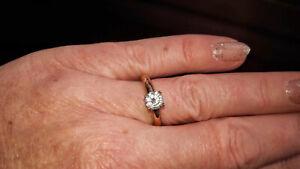 ESPRIT Damenring 925 Silber Rose mit Zirkonia