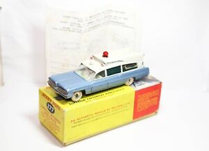 Dinky 277 Superior Criterion Ambulance In Its Original Box - Good Vintage
