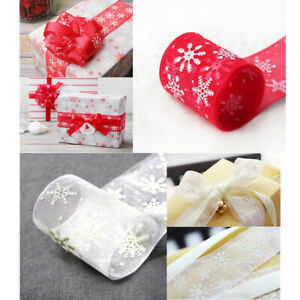 New ListingOrganza Snowflake Ribbon Party Gift Wrapping Wedding Decoration Decor 25 Yard