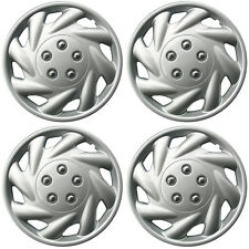 """4 Piece SET Hub Caps ABS Silver 15"""" Inch for OEM Steel Wheel Cover Cap Covers"""