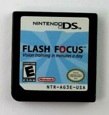 DS Flash Focus: Vision Training in Minutes a Day (Nintendo DS) Cart Only Tested