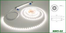 5 metros LED stripe rayas lámpara banda 5mm & transformador neutral blanco profesional nw5-60