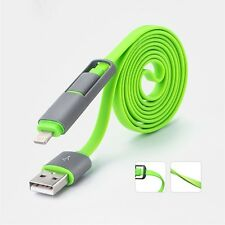 USB 2in1 Data Adapter Charger USB cable For iPhone 5s For Samsung For Android