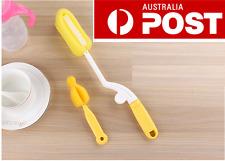 Set of 2 Baby Nipple 360 Desgin Twist Brush and Bottle Brush with sponge Cleaner