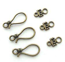 5 Sets 10pcs- S hook clasp, S toggle-bronze tone jewelry clasp,brass S hooks