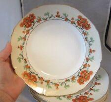 4 Epiag czechoslovakia salad plates. Red, orange poppy flowers