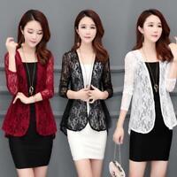 Women Cardigan Sun Shirt Blouse Summer Lace Chiffon Sunproof Long Sleeve Plus