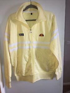 Ellesse Yellow Full Zip Tracksuit Jacket Size Large
