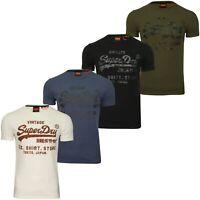 Superdry Mens T-Shirt 'Shirt Shop Bonded Tee'