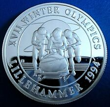 More details for turks & caicos: 1993 20 crowns winter olympics a 1 troy oz silver proof cap cert