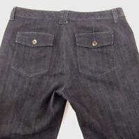 Eddie Bauer Jeans Women's Size 16 Dark Wash Boot Cut Blue Denim Pants Dyed
