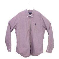 Ralph Lauren Mens Size XL Red and Blue Check Long Sleeve Button Down Shirt