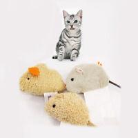 3Pcs Creative Pet Cat Toy Fur False Plush Fake Mouse Kitten Cat Playing Toy