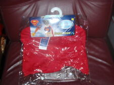 Superman Pet Costume Dog Superhero Halloween Fancy Dress SZ LARGE NEW