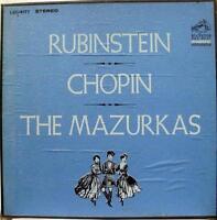 RUBINSTEIN chopin mazurkas 3 LP Mint- LSC 6177 Vinyl 1967 Record