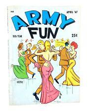 ARMY FUN Apr 1967 Vol 8 No 9 Bill Wenzel GGA Army Humor Risque Cartoons Digest
