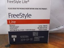 50 Freestyle Lite Diabetic Blood Glucose Test Strips   Exp 4/30/2019