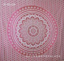 Indian Sole Sfumati Mandala Arazzo Appeso a parete Mandala Hippy Copriletto Rosso/Rosa
