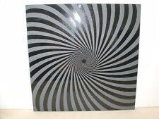 Handmade Art Sandblast Black Swirl on Black Granite    Gift   tile only